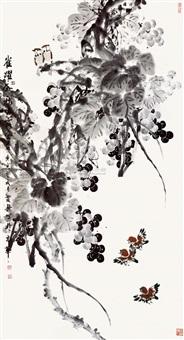 葡萄麻雀图 by guan qingxing