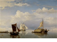 the hay barge by hermanus koekkoek the elder