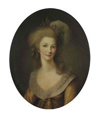 portrait de marie-thérèse-louise de savoie-carignan, princesse de lamballe by marie-victoire lemoine