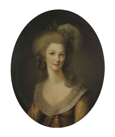 portrait de marie thérèse louise de savoie carignan princesse de lamballe by marie victoire lemoine