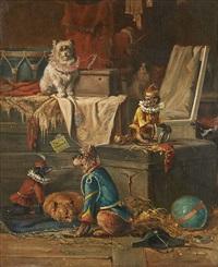 singes et chiens savants by carpentero