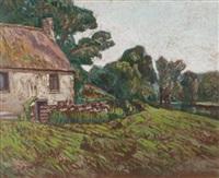 le moulin de genétin à crozant by eugene alluaud