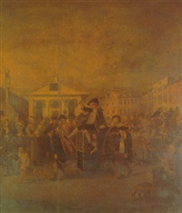the covent garden morning frolic by louis-philippe boitard