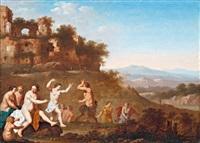 táncoló nimfák és szatírok by johan van haensbergen