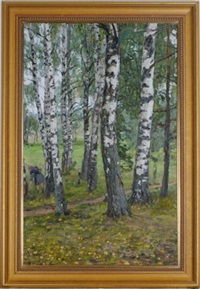birch tree forest by valerian formozov