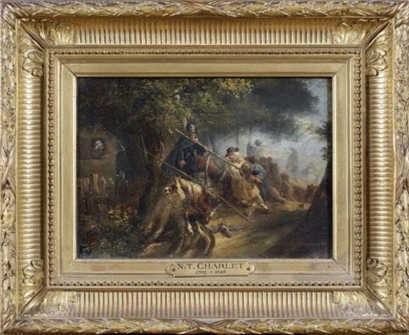 épisode de linvasion cosaque by nicolas toussaint charlet