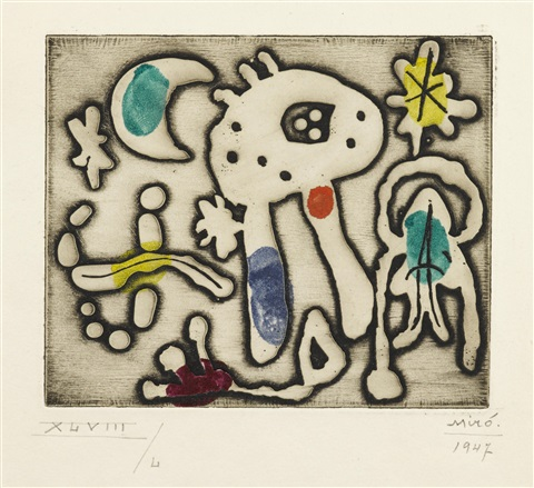 one plate from the prints of joan miró by joan miró