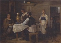 drinking tea by a. sokolov