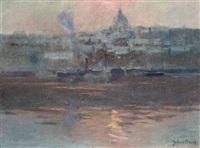 stockholm harbour by julius olsson