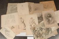 etudes de personnages (15 studies) by françois joseph navez