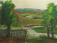 landscape with river by coca metianu