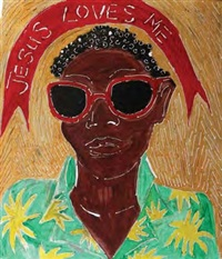 jesus loves me (pair) by sokari douglas camp