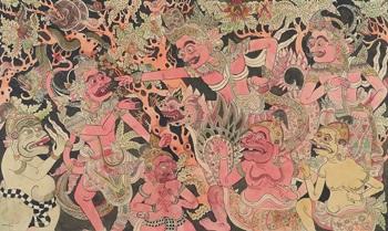 ramayana, rawana challenges hanuman by i kabon