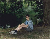teenage boy in vondelpark, amsterdam, the netherlands, may 12 by rineke dijkstra