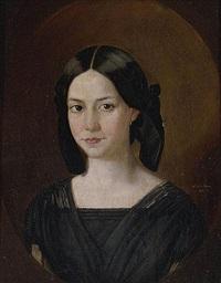 retrato de niña by manuel de la rosa