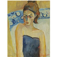 portrait of a girl by minas avetisian