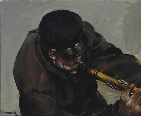 the musician by christian krohg