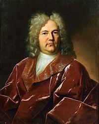 portrait d'homme au drape rouge by gaspard rigaud