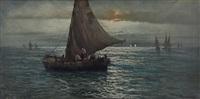 marina con barche di pescatori by testa remo