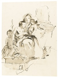 madonna and child with the infant st. john the baptist and another young child by giovanni battista tiepolo