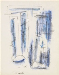 blue letter by dorothy dehner