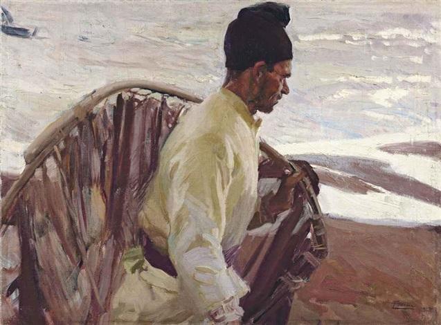 pescador de quisquillas, valencia by joaquin sorolla y bastida