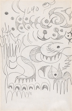 Two Abstract Pencil Drawings By Charles Burchfield On Artnet