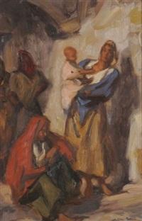 femme à l'enfant by charles ernest smets