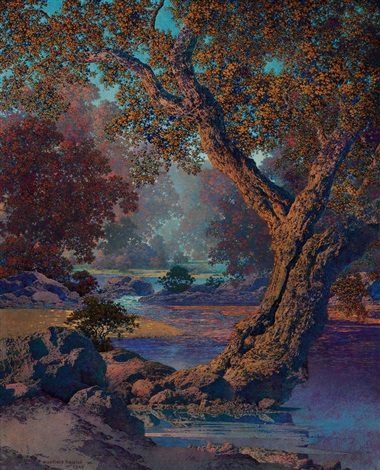 autumn brook by maxfield parrish