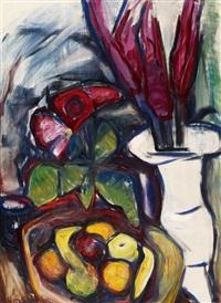 fuchsschwanz in weißer vase by maria von heider-schweinitz