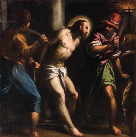 flagellazione by jacopo palma il giovane