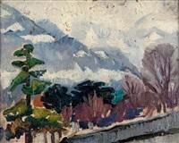 montagne en hiver by bessie ellen davidson