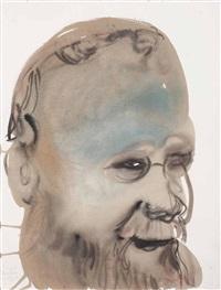 portrait of hermann nietsch by marlene dumas