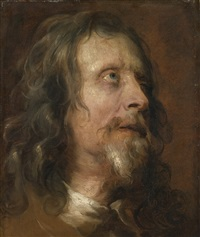 portrait study of a bearded man by sir anthony van dyck