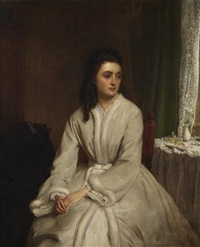 a pensive young woman by william powell frith