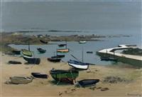 barques sur le port de saint-pierre by robert humblot