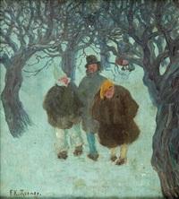 spaziergang im winter by franz carl renner