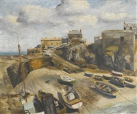 coverack harbour by richard eurich