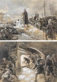 escenas de la guerra (pair) by maximo juderias caballero