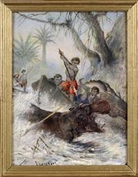 la chasse à l'hippopotame by henri langerock