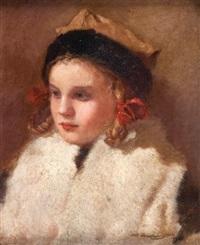 dziewczynka w rogatywce by waclaw kodkowski