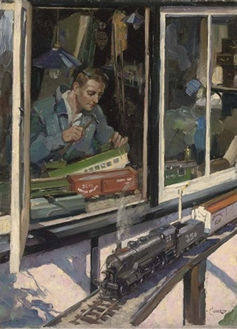 the modelmaker by terence cuneo
