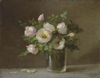 scotch roses in a glass by anna eliza hardy