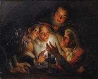 le jeu de la chandelle by charles-antoine coypel