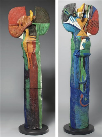 totem (in 5 parts) by dia azzawi