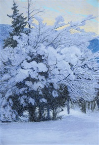winterlandschaft by friedrich beck
