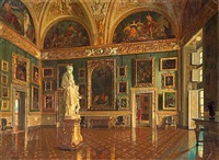 the sala dell'iliade in the galleria palatina at the pitti palace by antonio maria aspettati