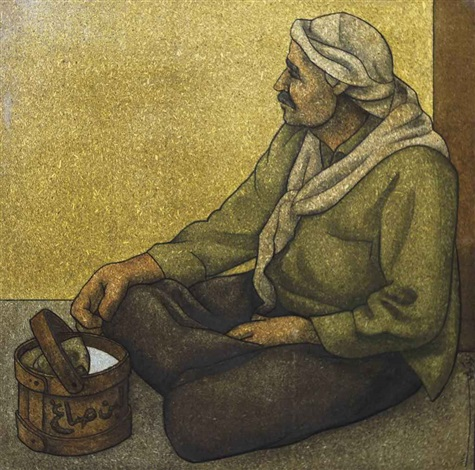 seated old man by louay kayyali