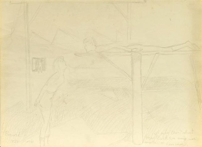 croquis de chorégraphie pour le renard sketch by mikhail larionov