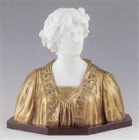 élégante à la couronne de laurier by george van vaerenbergh